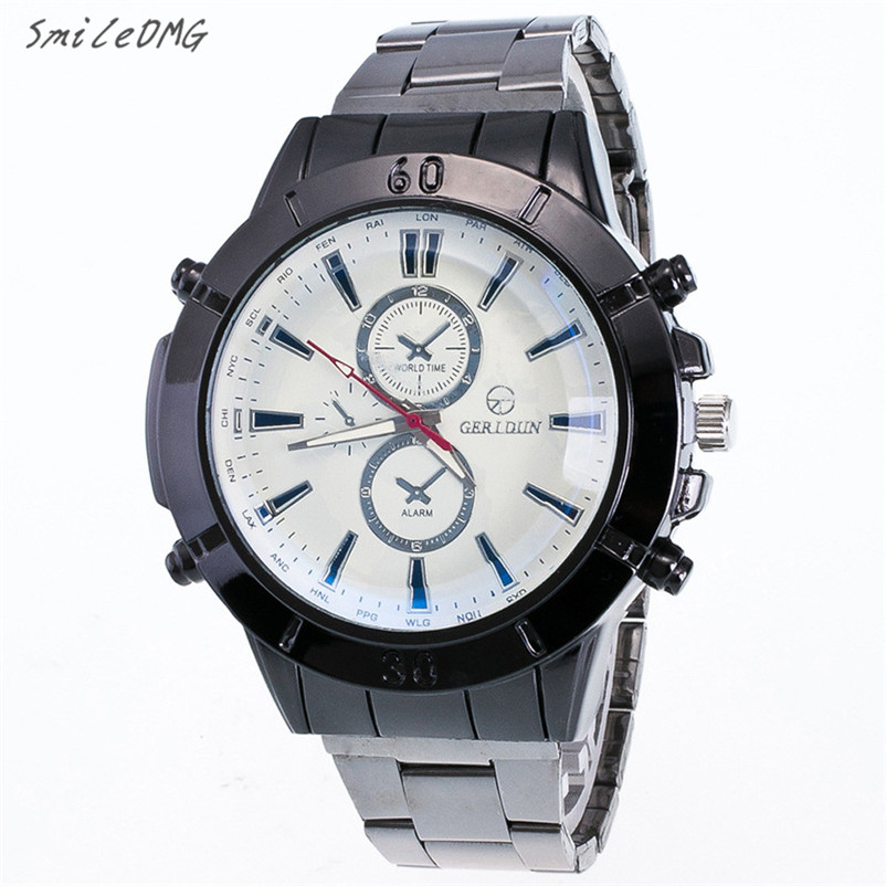 SmileOMG Fashion Luxury Men Watch Stainless Steel Motion Form Sport Quartz Alloy Watch Gift Free Shipping,Aug 7 smileomg hot sale fashion women woven bracelet watch christmas gift free shipping sep 15