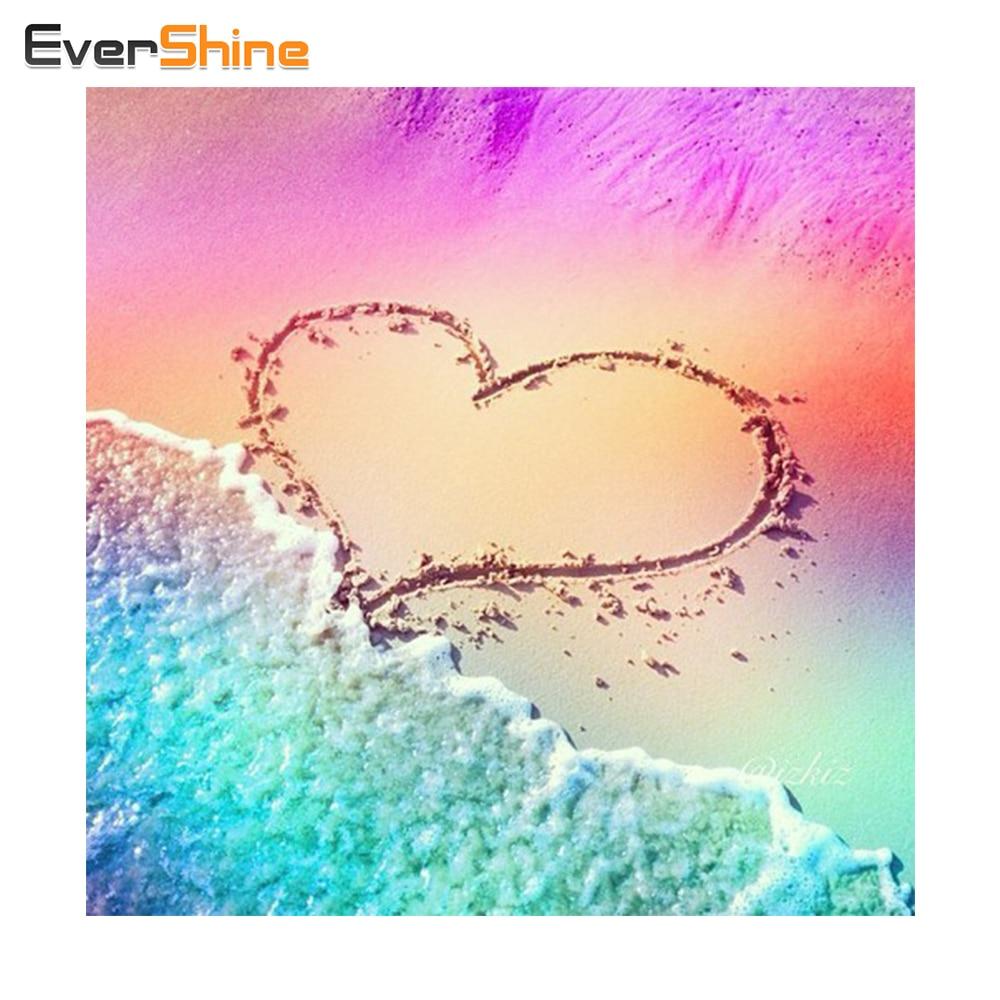 EverShine, Landscape Diamond Painting Heminredning, Handgjord Diamond Broderi Cross Stitch, Full Square Diamond Mosaic Needlework