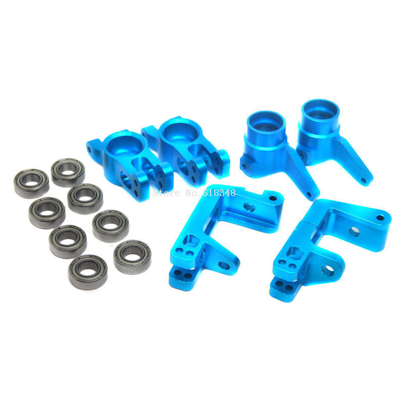 HSP 1/8 Upgrade Parts 860008 860009 860010 Aluminum R/F Hub Carrier Steering Carrier Bearings 16*8*5 85763 For 1/8 RC Hobby Car hsp 860010 aluminum alloy steering hub carriers for r c 1 8 94760 94761 more blue 2 pcs
