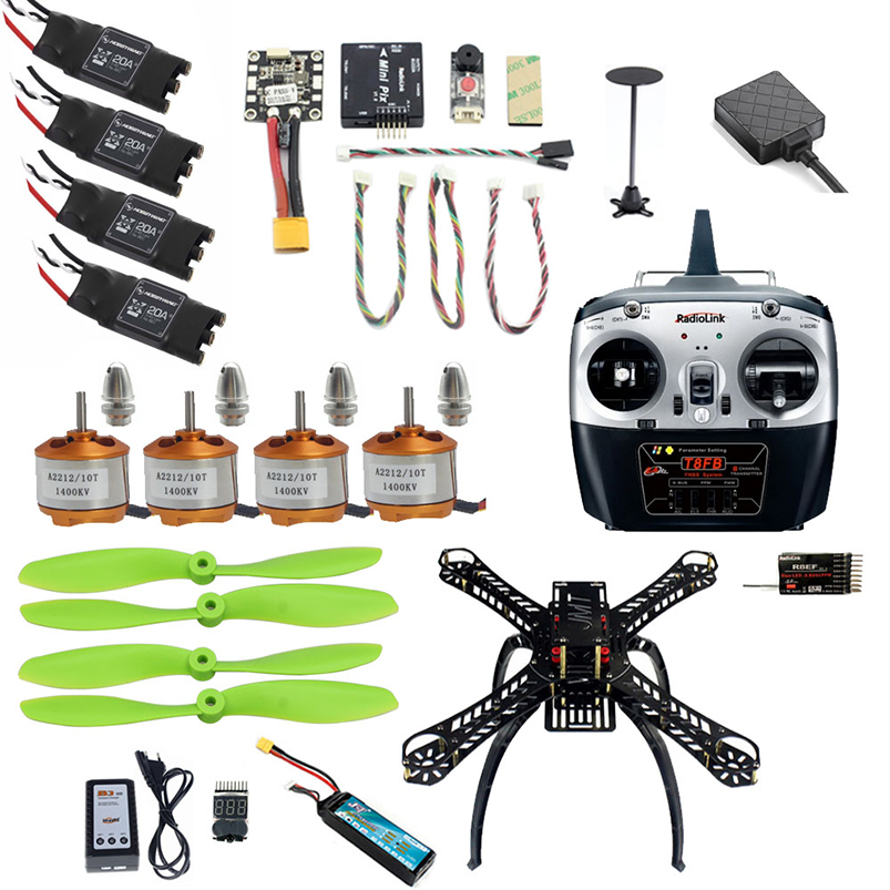 DIY RC Drone 2.4G 310mm Frame with Mini PIX Flight Control M8N GPS Damping Altitude Hold Mode T8FB Transmitter FPV Quadcopter jjr c jjrc h43wh h43 selfie elfie wifi fpv with hd camera altitude hold headless mode foldable arm rc quadcopter drone h37 mini