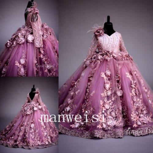 купить Elegant Flower Girl Dress Pageant Birthday Party Dresses Princess Formal Gowns дешево