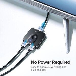 Image 3 - Ugreen rozdzielacz HDMI przełącznik dwukierunkowy 4K HDMI przełącznik 1x 2/2x1 Adapter 2 w 1 konwerter na PS4/3 TV, pudełko rozdzielacz HDMI