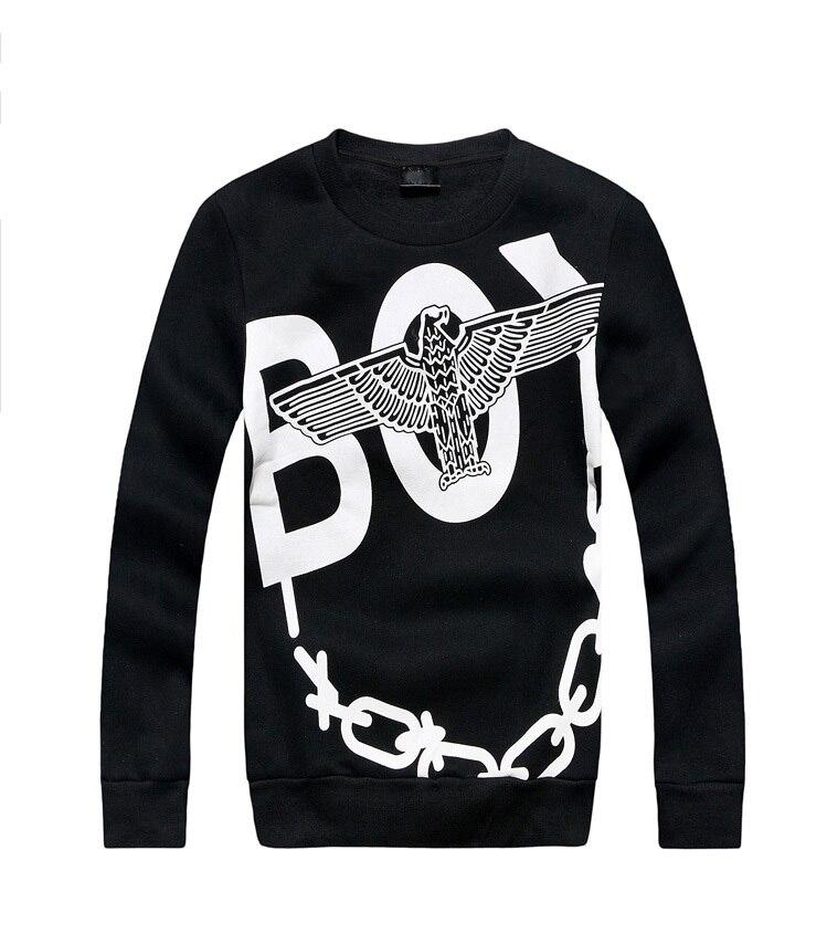 debe48257 BOY LONDON hoodie NEW 2015 brand men hip hop sweatshirt casual man pullover  Skull chains Eagles tops male swag clothes sudaderas-in Hoodies &  Sweatshirts ...