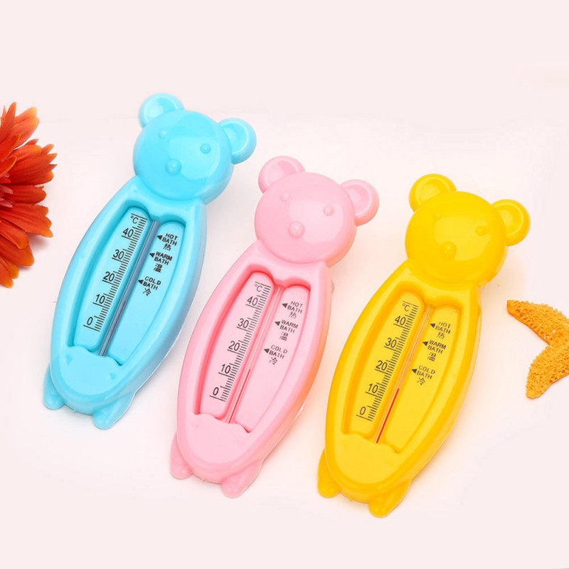 2018 Cartoon Floating Lovely Bear Baby Water Thermometer Kids Bath Thermometer Toy Plastic Tub Water Sensor Thermometers Q1