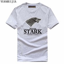 Game of Thrones shirts men house Stark men's T shirt an ice song and fire winter is coming 2017 summer fashion brand clothing