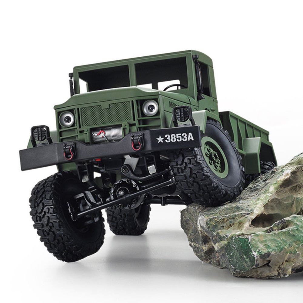 HENG LONG 1/16 2.4G 4WD Off-Road RC Military Truck Rock Crawler Army Car Remote Control  ...