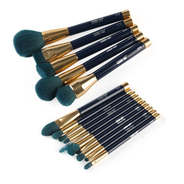 15 pcs Cabelo Sintético Fundação Blending Pincel Kabuki Makeup Brushes Set Novo