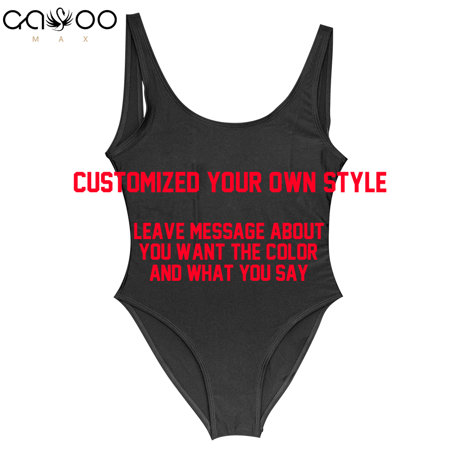 Customized Letter Personalized Slogan Swimwear One Piece Swimsuit Make your own style bathing suit Swimwear bachelor Party Fun