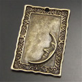 Graceangie aleación 15 unids estilo antiguo bronce look square charm luna colgantes encontrar hecho a mano accesorio de moda 30*21mm 02911