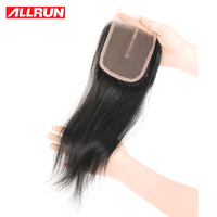 Allrun Middle Part 4 4 Lace Closure Brazilian Hair Body Wave Closure Human Hair Extensions Non