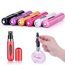 MUB-5ml мини многоразовая Удобная пустая бутылка для парфюмерии с распылителем насос алюминиевая спрей бутылка-контейнер для косметики путешествия Parfum подарок