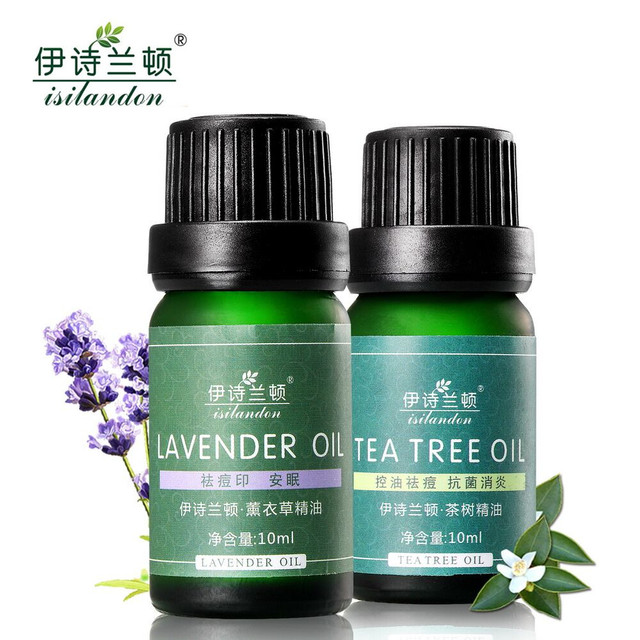 ISILANDON Lavender Tea Tree 100% Pure Essential Oil Acne Scars Remover  Blackhead Acne Treatment Acne