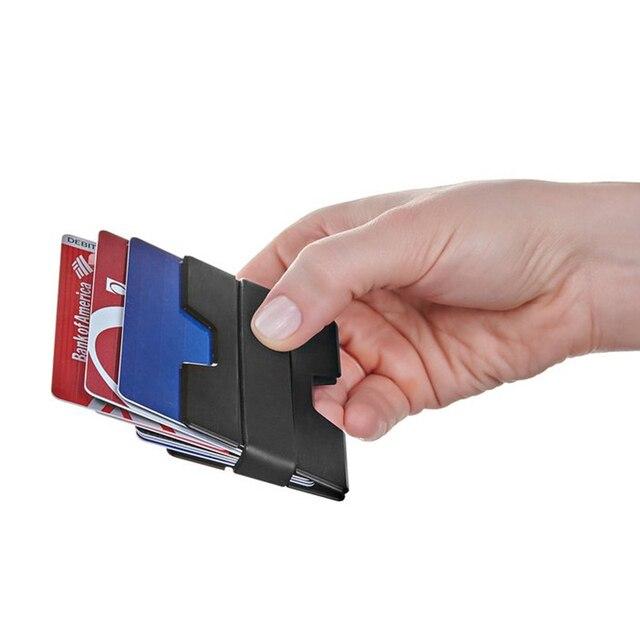 Slim wallet man plastic wallet for plastic cards fashion portable slim wallet man plastic wallet for plastic cards fashion portable business card holder black translucent color reheart Images