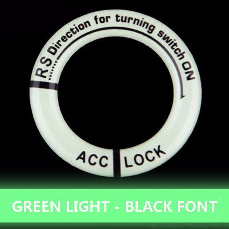 Image 4 - Luminous Key Ring Decor Sticker Auto Accessories Motorcycle Lgnition Switch Cover Auto Interior Protective Sticker Car Styling-in Car Stickers from Automobiles & Motorcycles