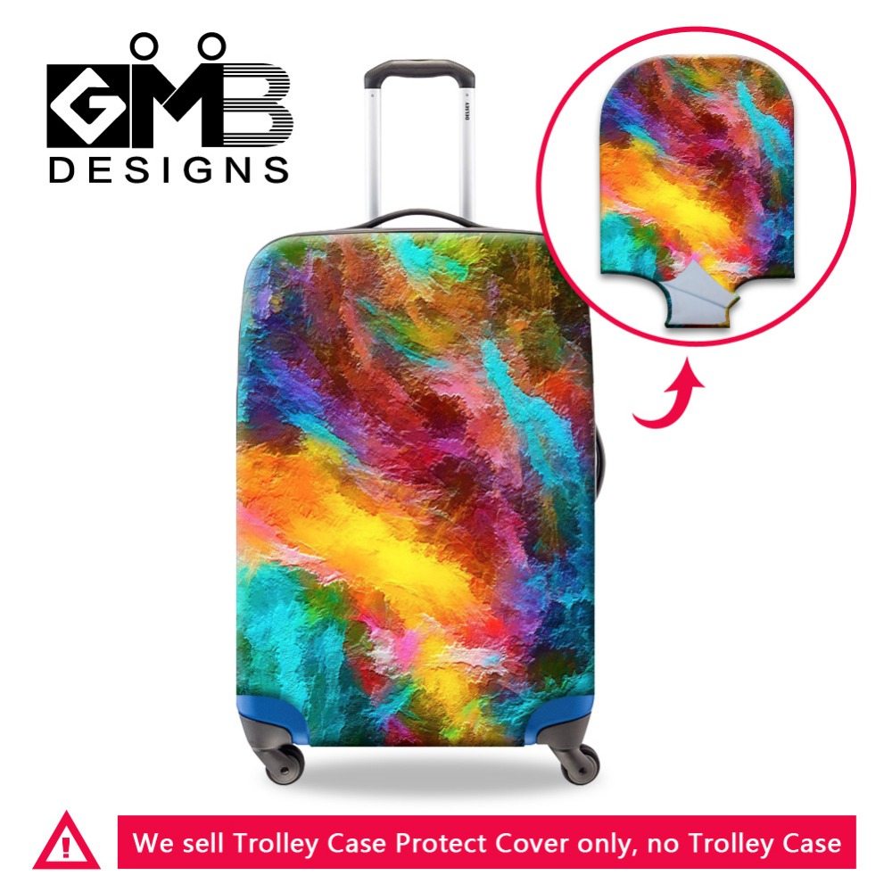Dispalang Colorful Luggage Cover for 18-30 inch Suitcase Protectors Waterproof Luggage Protective Elastic Luggage Bag Cover