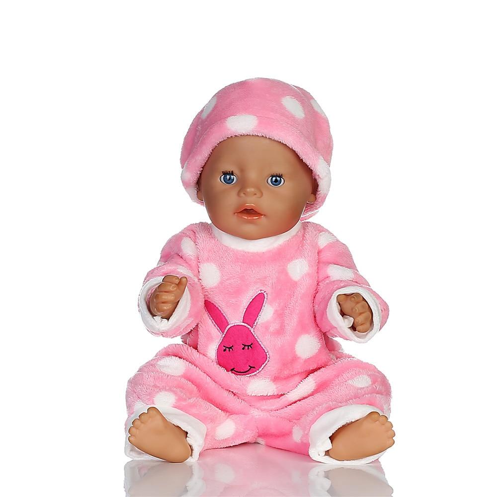 Chapeau de lapin rose + vêtements de poupée Wear fit fit 18 pouces, 43cm, meilleur cadeau d'anniversaire pour enfants N283