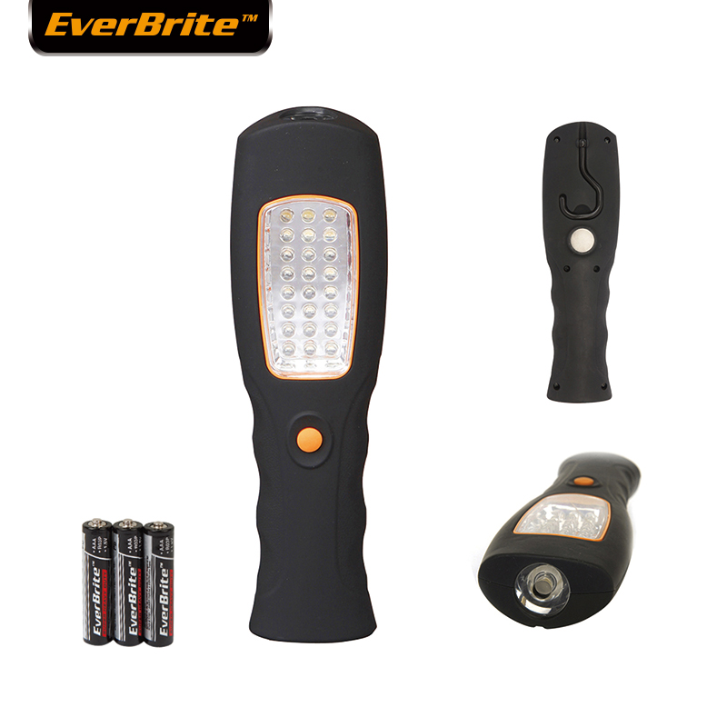 Everbrite  LED Flashlight 25 LEDs Light Portable Work Light Outdoor Emergency Lights with hook