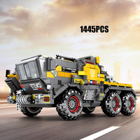 Wandering Earth city Engineering cn373 Mining truck Transport Vehicle head bricks figures assemable building block toys for gift