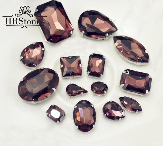 Claw Rhinestones Water Drop Burgundy Strass Rivoli 8mm 8x13mm 10x14mm 13x18mm Sewing Evening Dresses Decorative Rhinestones