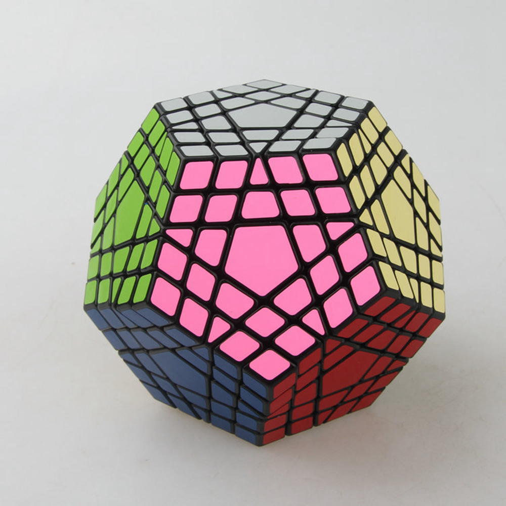 Shengshou 42mm Gigaminx Viteza Magic Cube PVC Stickere Puzzle Joc Jucarii educative pentru copii Copii