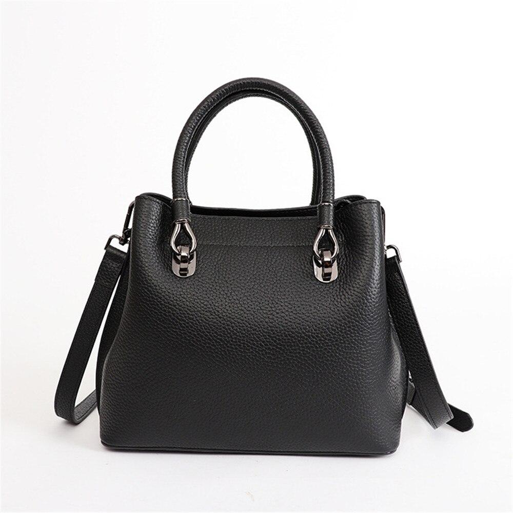Vintage Style New Fashion Women Totes Genuine Leather Shoulder Bag Luxury Brand Design Lady Handbag Female