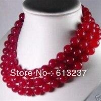 Красивый стиль красный халцедон нефриты Бусы камень 10 мм недавно Круглый бисер DIY Цепочки и ожерелья делая 50