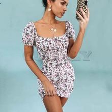 Cuerly Sexy off shoulder print short bodycon dress Summer elegant party beach dress female Casual daily dress vestidos  L5