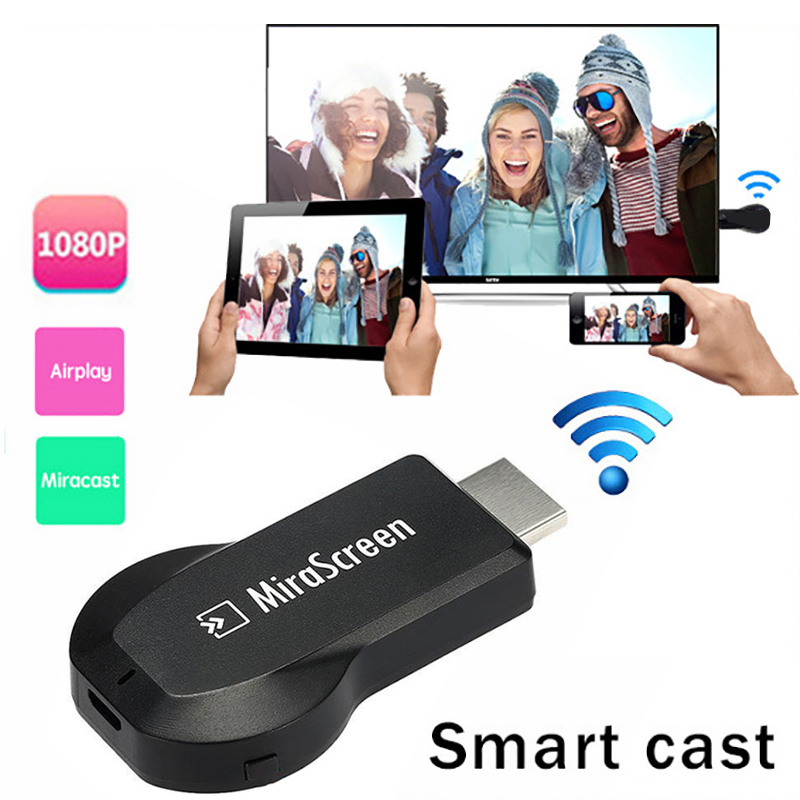 imágenes para Android Media Player Wifi Wireless Dongle del Adaptador de Audio y Vídeo Fundido Teléfono de Vídeo a HDMI HDTV TV Proyector Para iPhone iPad