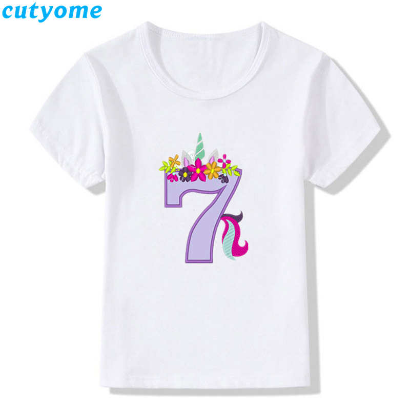 Cutyome Baby Boys Girls Happy Birthday T Shirts Number 1 9 Letter Print Toddler Kids Funny Shirt Cute Clothes Present