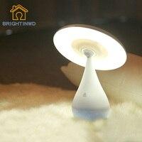 BRIGHTINWD LED Creative Mushroom Air Purifier Desk Lamp USB Promise Dimming Eyes Children Sleeping Bedroom Night Light