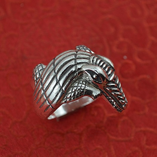 sterling silver ring male domineering crocodile restoring ancient ways ring man personality punk handmade silver ring restoring grace page 1