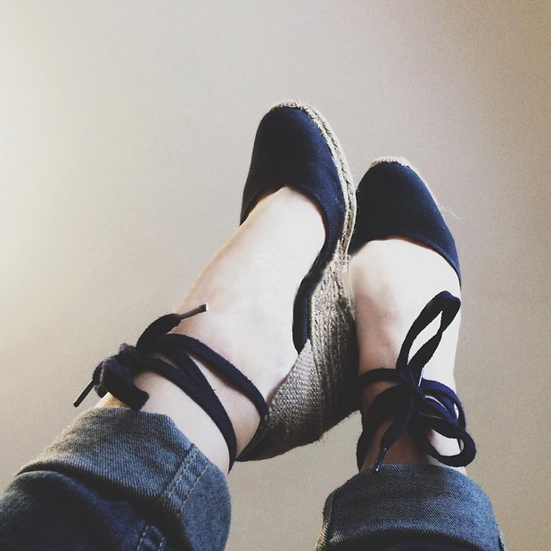 Women Ankle Strap Espadrilles Wedge Sandals 2018 Summer Canvas High Heel Fashion Lace up Women Platform Wedge Sandals Large Size (21)