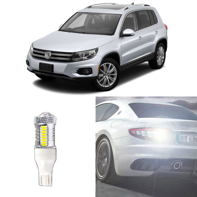 Ownsun Brand New High QualityError Free 50W LED Reversing T15 Back-Up Reverse Light Bulb For VW Tiguan 2013-2014 tuke rns310 rns315 rcd510 rns510 oem vw tiguan connect the electric wire reversing camera module