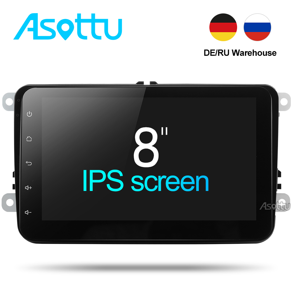 EU/RU warehouse Asottu CDZ8060 2G android 7.1 car dvd player for VW polo golf passat tiguan skoda yeti superb rapid gps 2 din автомобильный dvd плеер wincen android 4 1 dvd vw golf 5 6 passat jetta tiguan touran skoda octavia seat altea