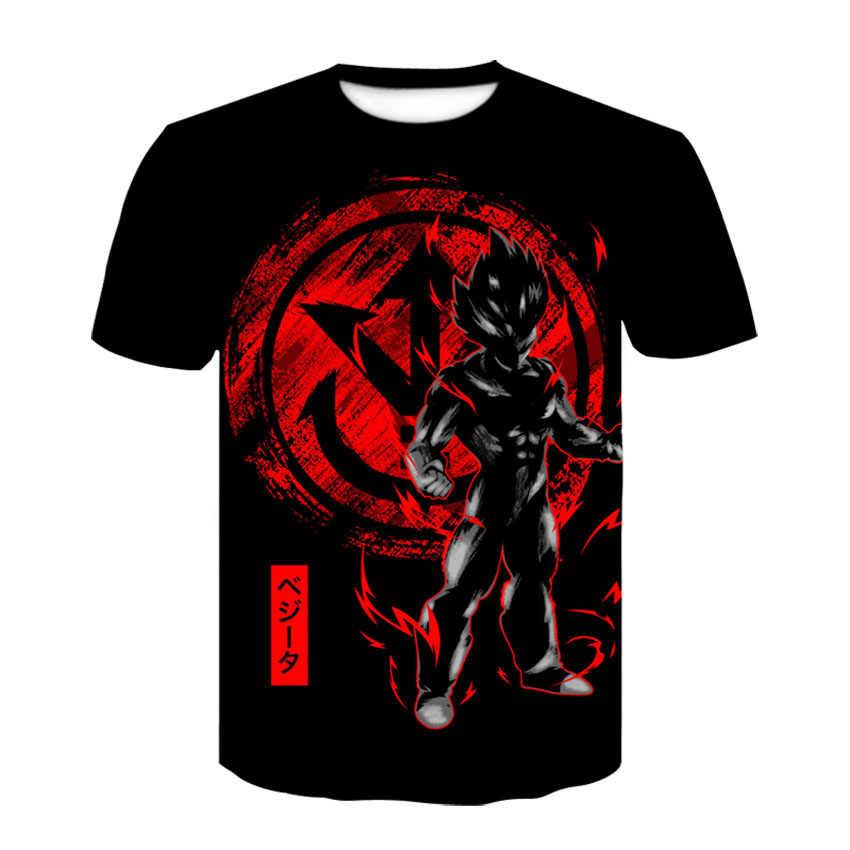 Новинка 2019 Лето Dragon Ball Z Мужская и женская футболка с 3D принтом супер сайян футболка Goku Мужская мода косплей костюм топы для мужчин