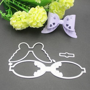 Image 4 - 9 styles 3D Bow Frame Metal Cutting Dies Stencils for DIY Scrapbooking Christmas Greeting Cards Decorative Embossing Template