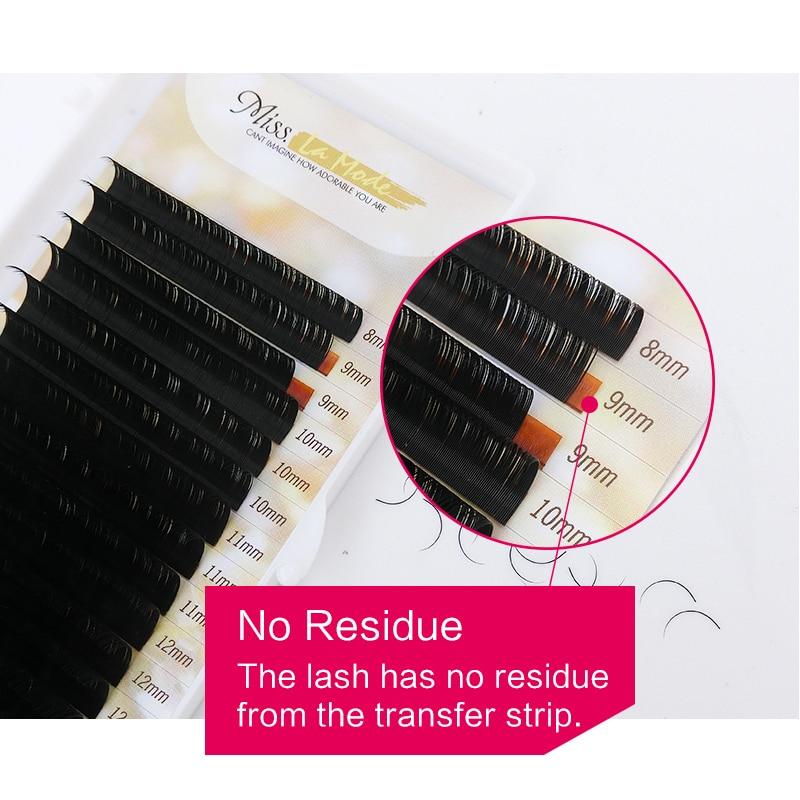 Image 4 - MISS LA MODE 0.07 BCD Curl 5Pcs/lot Soft Individual Eyelashes New Products Hot Selling Mink Volume Eyelash Extension-in False Eyelashes from Beauty & Health