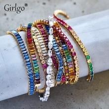 Модные Роскошные браслеты-шармы с кристаллами и геометрическими бусинами для женщин, винтажные аксессуары для свадебной вечеринки