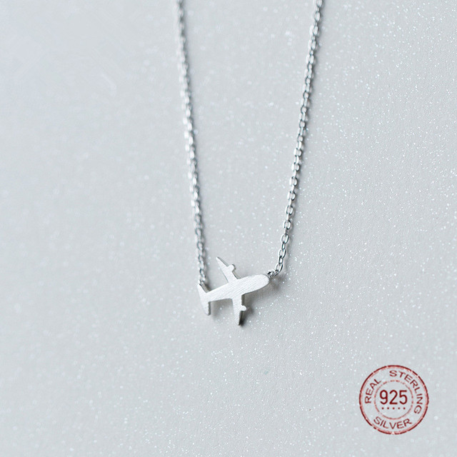 Miestilo world traveler 925 sterling silver plane necklace miestilo world traveler 925 sterling silver plane necklace adventurous modern sterling silver jewelry airplane charm mozeypictures Image collections