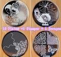 10 Пластины + 1 Стампер + 1 Скребок 60 Конструкции Дополнительно для Выбора Nail Art Image Konad Печать Штамп Штамповка Маникюр шаблон