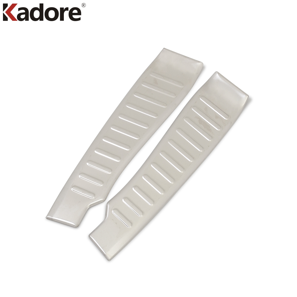 For Ford Focus 2012 2013 2014 2015 Hatchback Stainless Steel Inner Rear Bumper Protector Sill Car