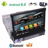 Free Wireless Camera Included Single Din High Resolution Digital TFT Gps Car Dvd Player Android 6