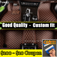 Custom car floor mats forcar floor mat leather fit for fiat 500 2011 2012 left wheel driving car accessories auto styling