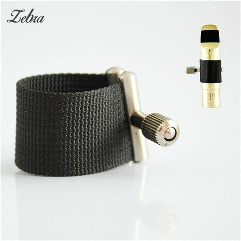 Zebra Saxophone Mouthpiece  For  Soprano Alto Tenor Standard Sax Metal Mouthpiece  Fabric Ligature  Musical Instrustrents Parts
