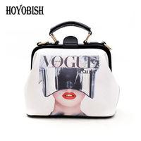HOYOBISH Japan-South Korea Cartoon Priting Doctor Bags Casual Female Handbags Women's Cross body Shoulder Bags Sac a main OH165