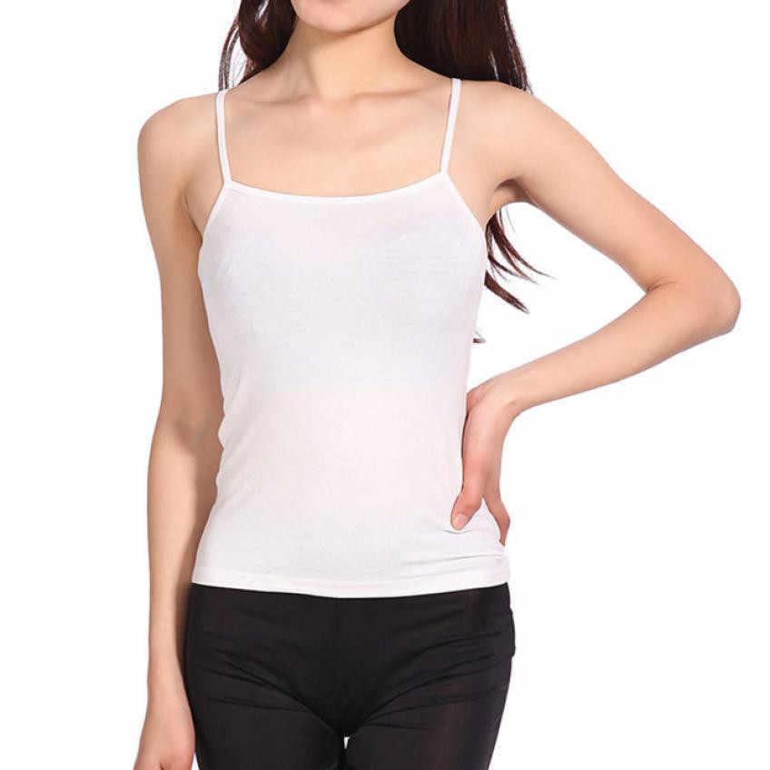 KANCOOLD tank tops przycięte styl crop top bluza z kapturem moda lato Sexy kobiety luźne cienkie szyfonowa Spaghetti pasek kamizelka bluzki JAN19