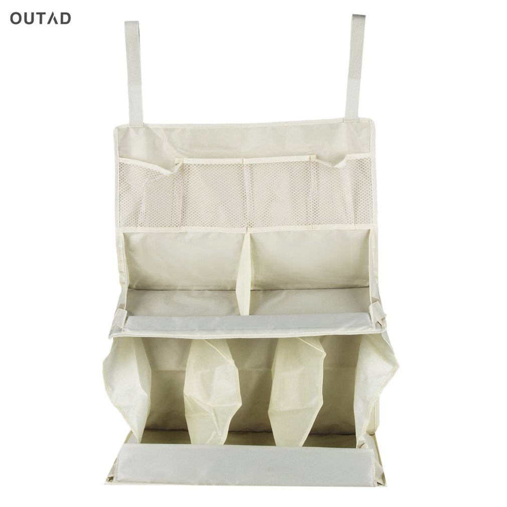 Baby Bed Bedding Set Accessories Diaper Waterproof Baby Crib Nursing Bottle Toy Multi Compartment Portable Hanging Storage Bag
