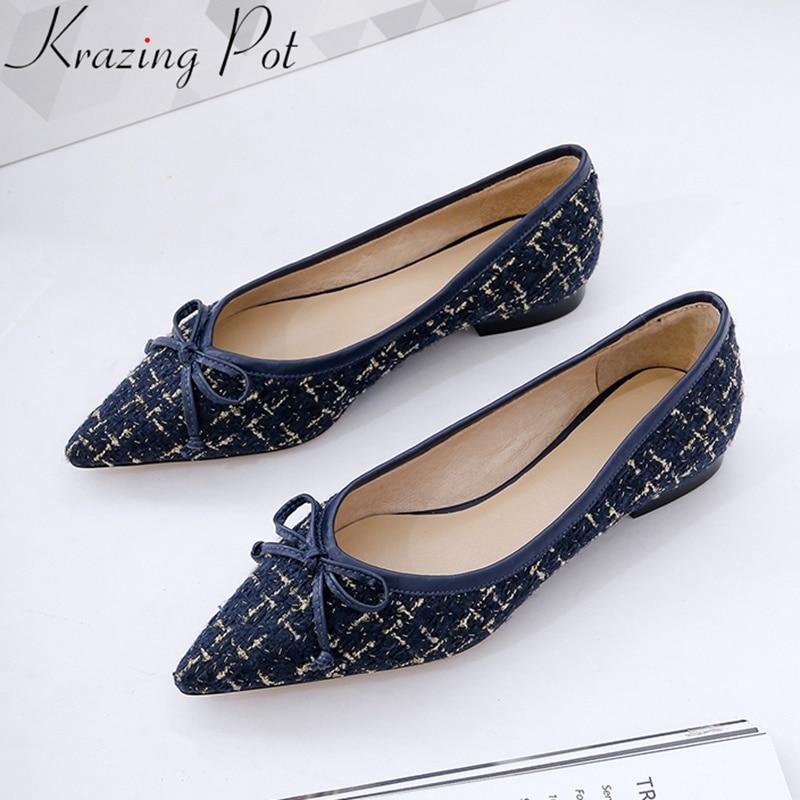 Krazing Superficial Fiesta Tacón Marca Primavera Oficina Conciso Zapatos azul Mujeres Beige Bajo De Las Ld5 Punta 2019 Superestrella Olla Elegante r60w7Prx