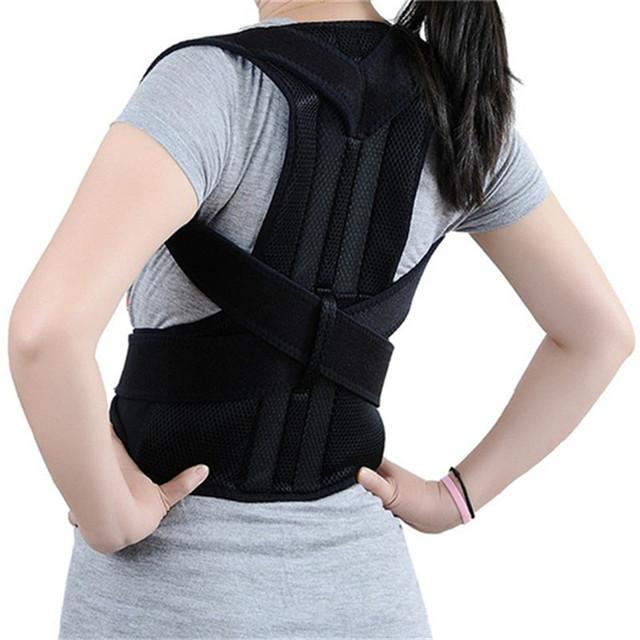 Cinturon UNISEX ajustable de apoyo Corrector de postura hombro Lumbar soporte columna