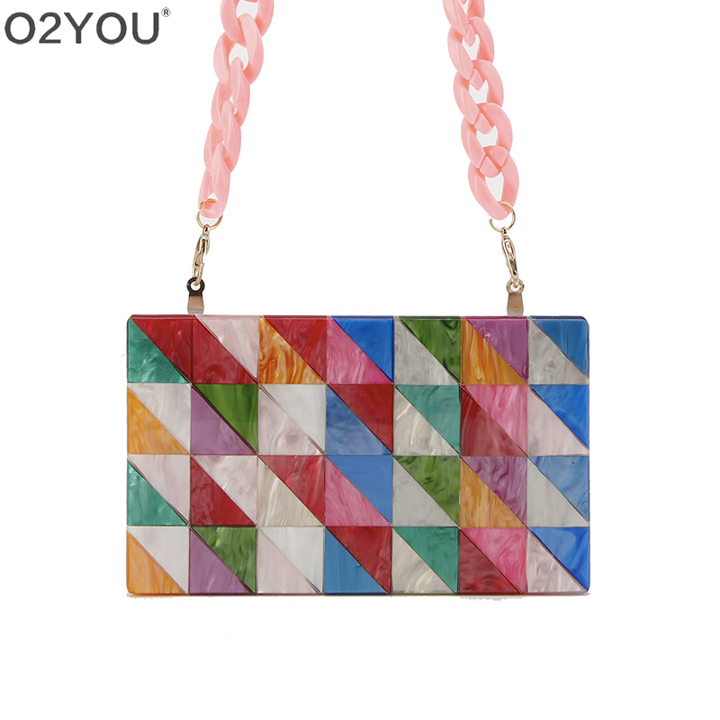 Colorful Pearl Striped Patchwork Geometric Resin Luxury Handbags Women Bags Designer Bolsos Mujer Lady  Acrylic Box Clutches Colorful Pearl Striped Patchwork Geometric Resin Luxury Handbags Women Bags Designer Bolsos Mujer Lady  Acrylic Box Clutches